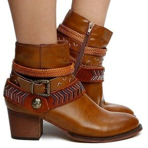 Shoes - Strappy Ankle bootie